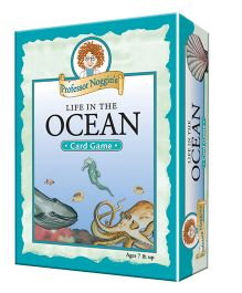 OutSet Media Prof Noggin's Life in the Ocean Card Game - Blue
