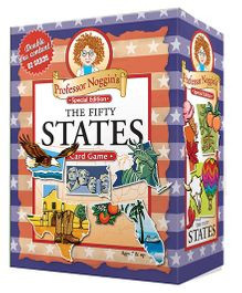 OutSet Media Prof Noggin's Fifty States Card Game - Blue