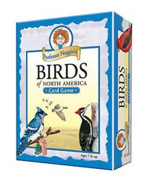 OutSet Media Prof Noggin's Birds of North America Card Game - Blue