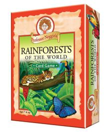 OutSet Media Prof Noggin's Rainforests Of The World Card Game - Orange