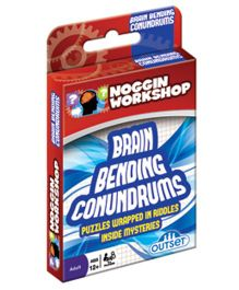 OutSet Media NW Brain Bending Conundrums Card Game  - Red Blue