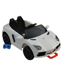 Sunbaby Racing Car Ride On - White