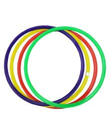 GSI Flat Juggling Rings Pack of 4 - Multicolor