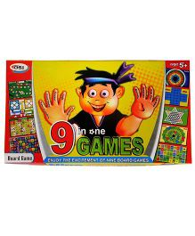 GSI 9 in 1 Kids Board Game - Multicolor