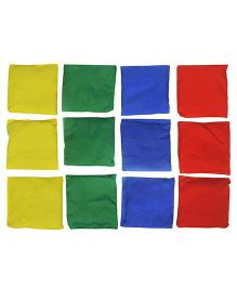 GSI Pack Of 12 Plain Toss Bean Bags For Activity Games And Primary Education - Multicolor