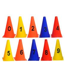 GSI 0 to 9 numbered Elementary Marker Cones - Multicolor