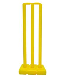 GSI Plastic cricket stump set with cover - Colors May Vary
