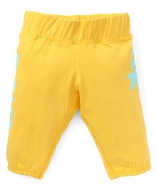 Button Noses Capri Tree Print - Yellow