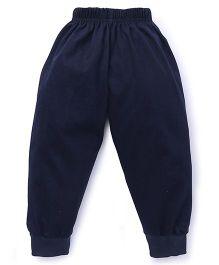 Fido Full Length Plain Track Pant - Dark Blue