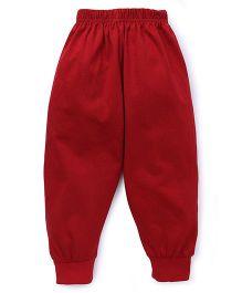 Fido Full Length Plain Track Pant - Red