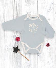 Pranava Polen Printed Kimono Sleeve Organic Cotton Onesie - Melange