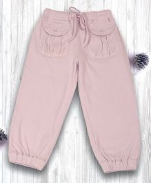 Pranava Gathered Pocket Organic Cotton Pant - Pink