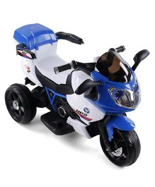 Baby Musical Battery Operated Ride On Bike - Blue Black