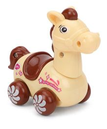 Wind Up Toy Horse Shape - Cream Brown