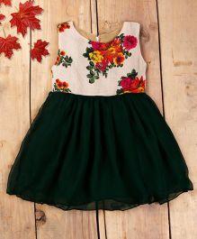Tiny Toddler Floral Summer Dress - Green