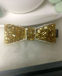 Treasure Trove Glittery Bow Hair Clip - Golden