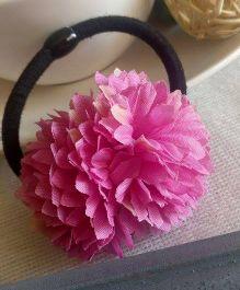 Treasure Trove Carnation Flower Pony Tail Holder - Pink
