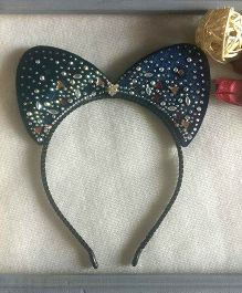 Treasure Trove Cat Ears Hairband With Studs - Dark Grey