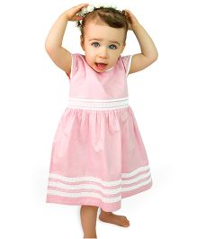 Bachha Essential Gather Lace Dress - Pink