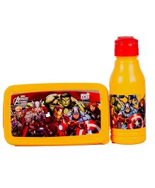 Marvel Avengers Back To School Lunchbox Set - Yellow