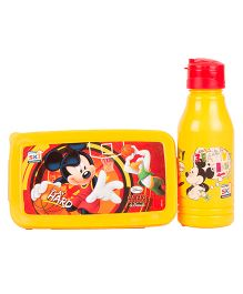 Disney Micky Mouse Back to School Lunchbox Set - Yellow