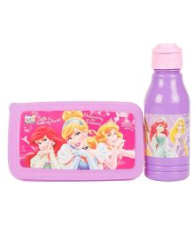 Disney Princess Back To School Lunchbox Set - Pink And Purple
