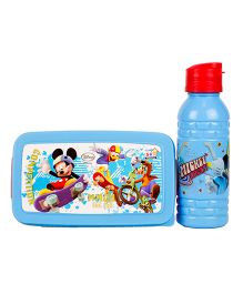 Disney Mickey Mouse Back To School Lunchbox Set - Blue And Red