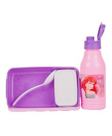Disney Cinderella Back To School Lunchbox Set - Pink And Purple