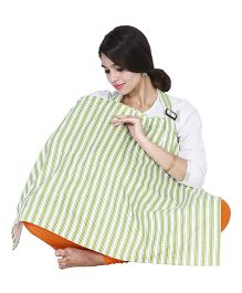 Lulamom Mothers Stripes Nursing Cover - Green