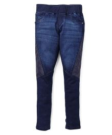 Gini & Jony Jeggings With Bow Applique - Dark Blue