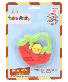 Apple Shape Baby Teether - Red Green