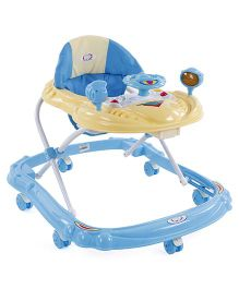 Musical Musical Baby Walker With Play Tray - Blue & Cream