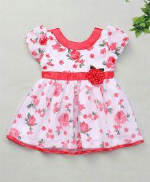 Enfance Rose Print Dress - Pink