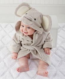 Pre Order - Mauve Collection Elephant Hooded Bathrobe - Grey