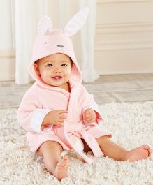 Pre Order - Mauve Collection Rabbit Hooded Bathrobe - Pink
