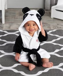 Pre Order - Mauve Collection Panda Hooded Bathrobe - Black & White