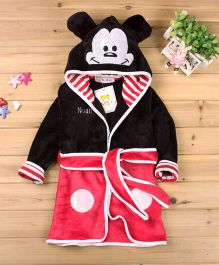 Pre Order - Mauve Collection Cartoon Characters Designed Bathrobe - Pink & Black