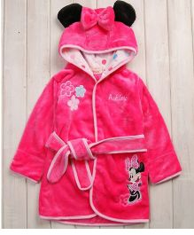 Pre Order - Mauve Collection Bow Patched Bathrobe - Pink