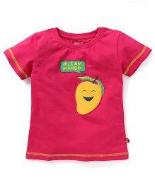 Bodycare Half Sleeves T-Shirt Mango Print - Pink