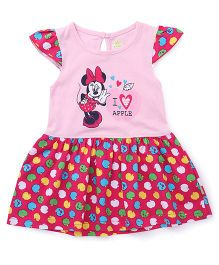 Bodycare Frock Minnie And Apple Print - Pink