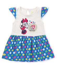 Bodycare Frock Minnie And Apple Print - Blue And white