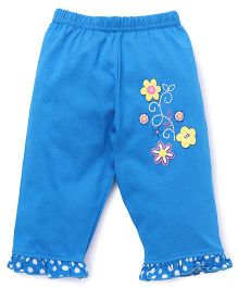 Bodycare Three Fourth Pants Floral Print - Blue
