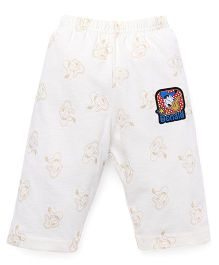 Bodycare Capri Donald Duck Patch - White