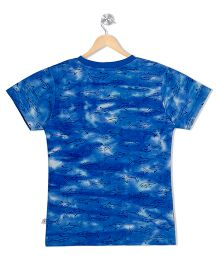 Raine And Jaine Fish Printed Tee - Blue