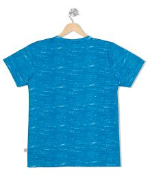 Raine And Jaine Solid Crew Neck Tee - Blue