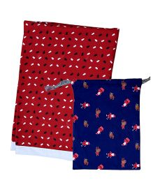Kadambaby Baby Blanket With Bag - Red Blue