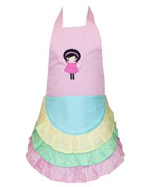 Kadambaby Kids Apron Doll Embroidery - Sea Green