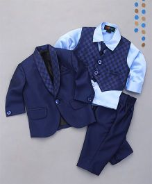 Robo Fry 4 Piece Party Suit With Tie - Blue