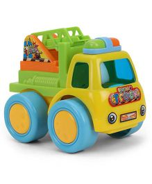 Baby Funny Crane Truck Toy - Green And Yellow