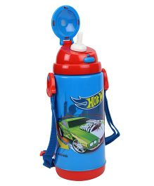 Hot Wheels Printed Water Bottle Blue Red - 450 ml